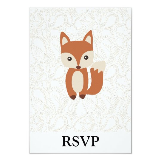 Cute Baby Fox Card