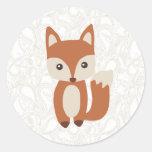 Cute Baby Fox Classic Round Sticker