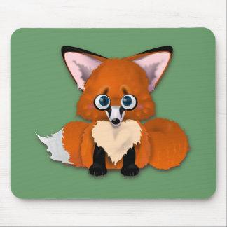 Cute Baby Fox Mousepads