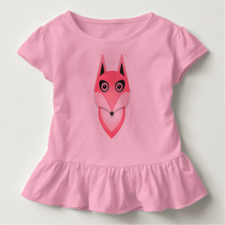 Cute Baby Fox Pink toddlers shirt