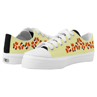 Cute Baby Foxes Printed Shoes