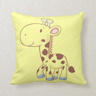 Cute Baby Giraffe Cartoon Animal Custom Pillows
