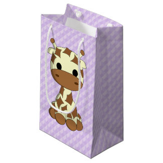 Cute baby giraffe cartoon kids small gift bag