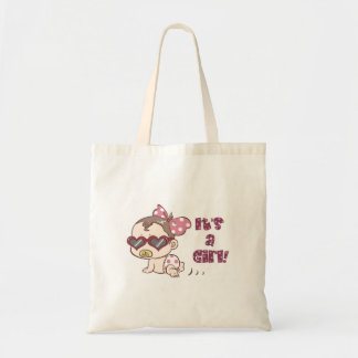 Cute Baby Girl Baby Shower Tote Bag