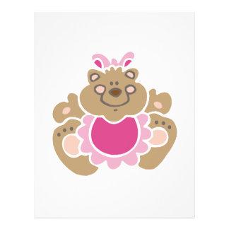 cute baby girl bear full color flyer