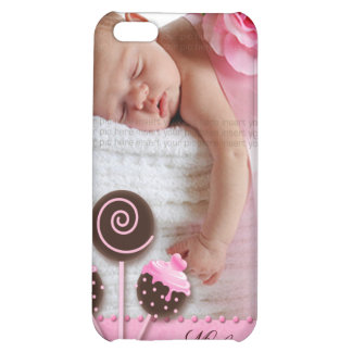 Cute Baby Girl iPhone Cover pink cake pops iPhone 5C Covers