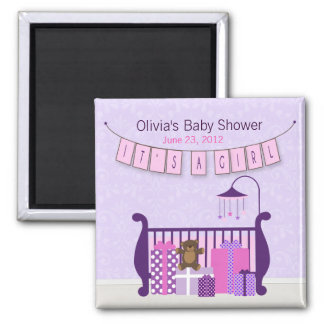 Cute Baby Girl Nursery Magnet