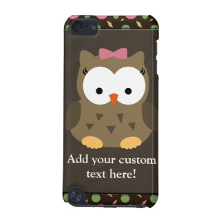 Cute Baby Girl Owl with Pink Bow iPod Touch (5th Generation) Covers