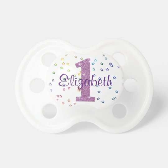 Cute Baby Girl Pacifier, 1st Birthday Dummy