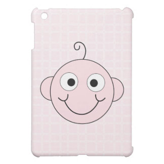Cute Baby Girl. Pink Check Background. Cover For The iPad Mini