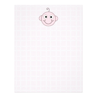Cute Baby Girl Pink Check Background Custom Flyer