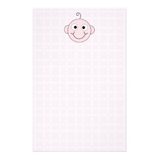 Cute Baby Girl. Pink Check Background. Stationery