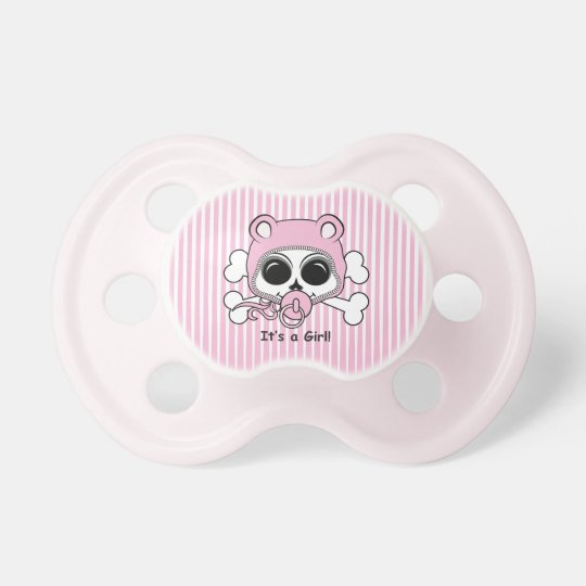Cute Baby Girl Skull Baby Pacifier