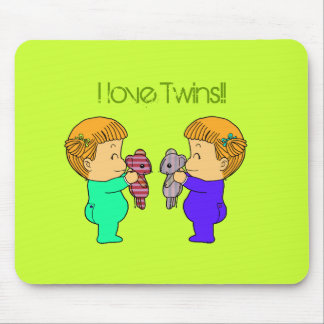 Cute baby Girl twins Mouse Pads