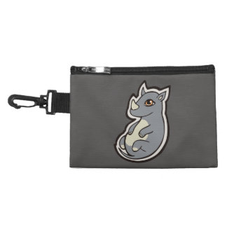 Cute Baby Gray Rhino Big Eyes Ink Drawing Design Accessories Bags