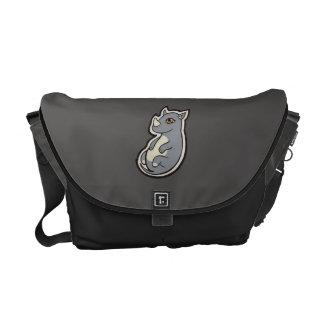 Cute Baby Gray Rhino Big Eyes Ink Drawing Design Commuter Bag