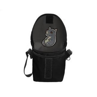 Cute Baby Gray Rhino Big Eyes Ink Drawing Design Messenger Bags