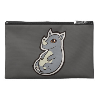 Cute Baby Gray Rhino Big Eyes Ink Drawing Design Travel Accessories Bags