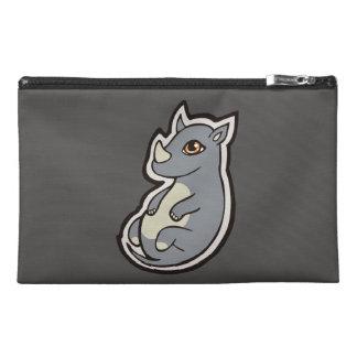 Cute Baby Gray Rhino Big Eyes Ink Drawing Design Travel Accessories Bags
