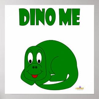 Cute Baby Green Dinosaur Dino Me Print