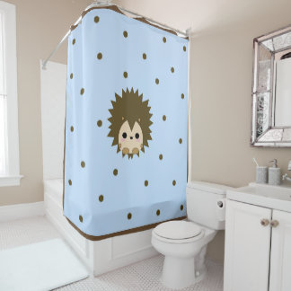 Cute Baby hedgehog shower curtain