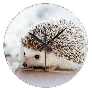 Cute baby hedgehog wall clock
