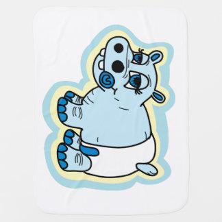Cute baby hippo blanket