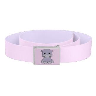 Cute baby hippo cartoon kids belt