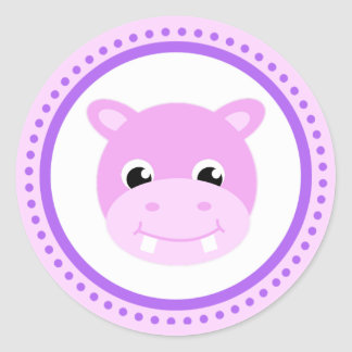 Cute Baby Hippo Cartoon Stickers