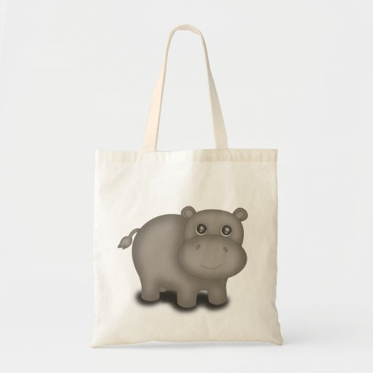 Cute Baby Hippo Tote Bag