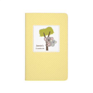 Cute Baby Koala Bear and Mommy Baby Shower Journal