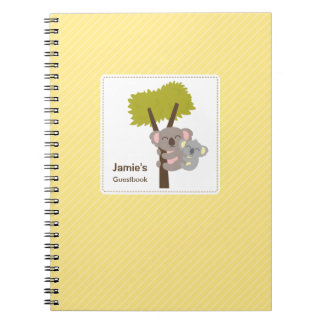 Cute Baby Koala Bear and Mommy Baby Shower Spiral Notebooks