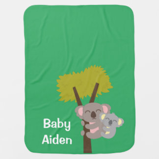 Cute Baby Koala Bear and Mommy For Babies Baby Blanket