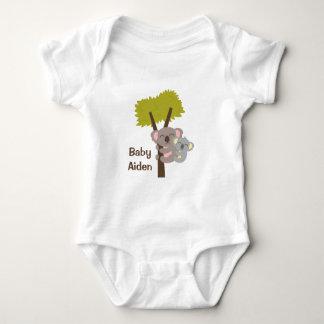 Cute Baby Koala Bear and Mommy For Babies Baby Bodysuit