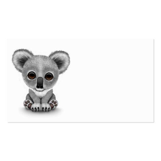 Cute Baby Koala Bear Cub on White Business Card