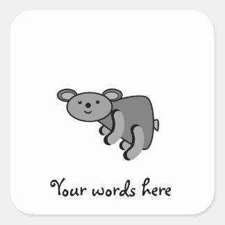 Cute baby koala bear square sticker