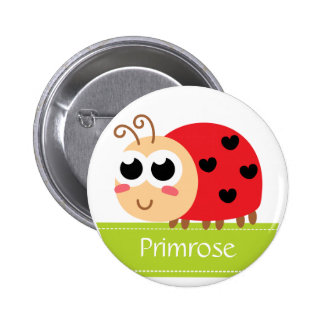 Cute Baby Ladybug with heart spots Button