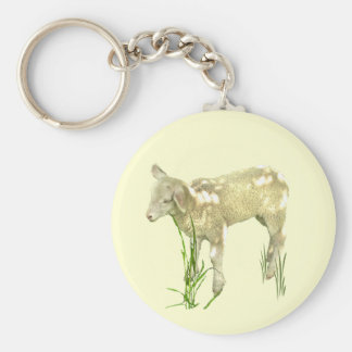 Cute Baby Lamb Keychain