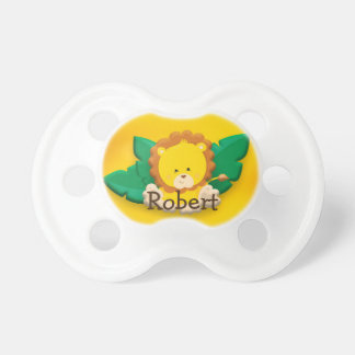 Cute Baby Lion Brown Yellow Personalized Dummy