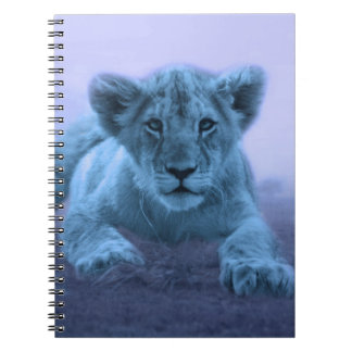 Cute baby lion cub spiral notebook