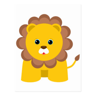Cute Baby Lion Postcard