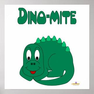 Cute Baby Lt Green Dinosaur Dino-mite Poster