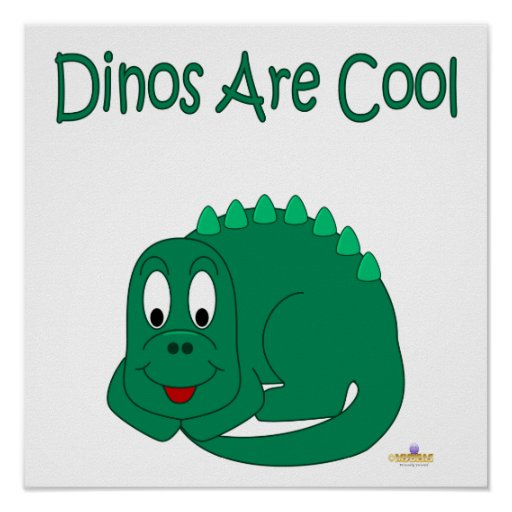 Cute Baby Lt Green Dinosaur Dinos Are Cool Print