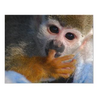 Cute Baby Monkey 11 Cm X 14 Cm Invitation Card