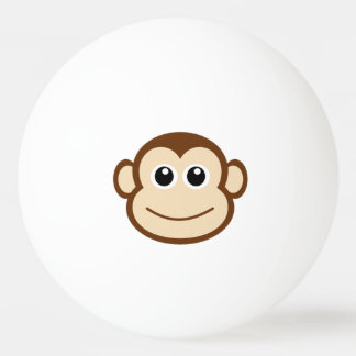 Cute Baby Monkey Face Ping Pong Ball