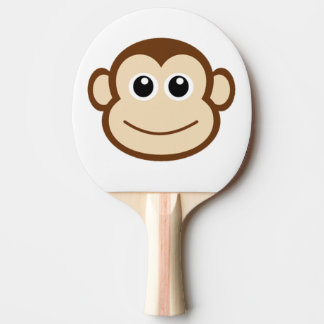 Cute Baby Monkey Face Ping Pong Paddle