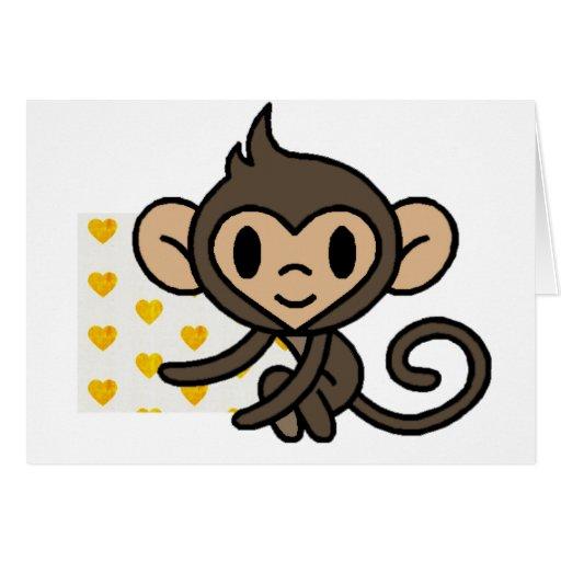 Cute baby monkey! greeting card