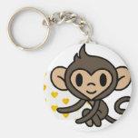 Cute baby monkey! key chain