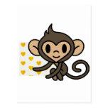 Cute baby monkey! postcard