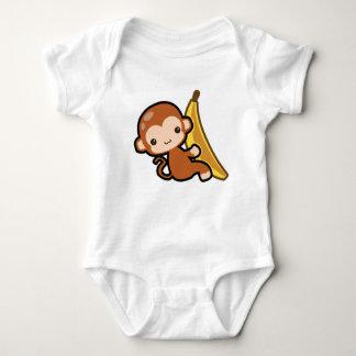 Cute Baby Monkey Whit A Banana Baby Bodysuit